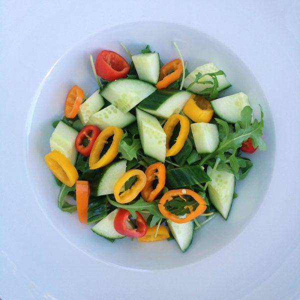 Sweet Pepper, Cucumber & Feta Salad