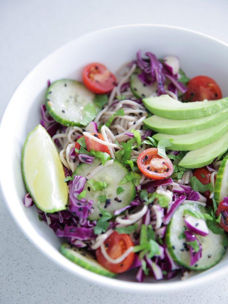 Spring Soba Noodle Salad - Lauren Schwaiger Healthy Living Blog