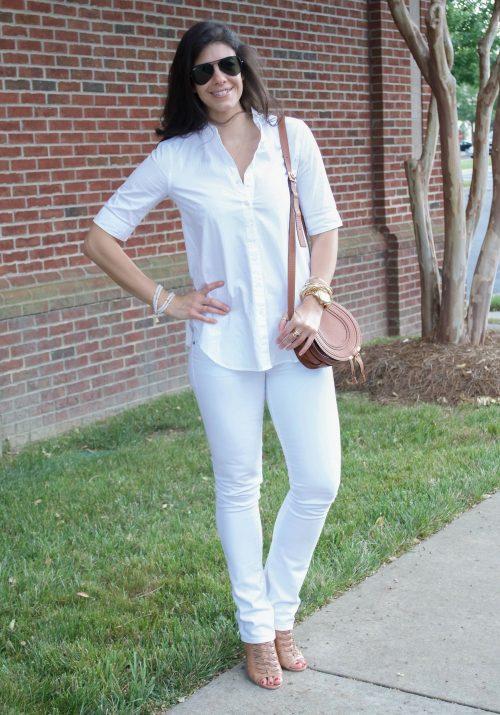 white on white - summer outfit - Lauren Schwaiger