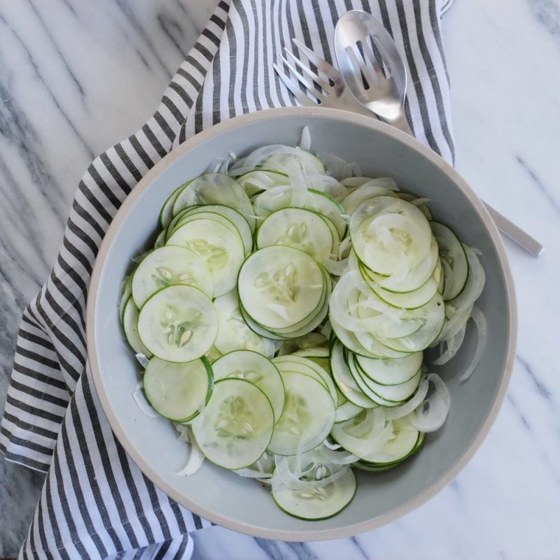 Austrian Cucumber Salad - Lauren Schwaiger Healthy Living Blog