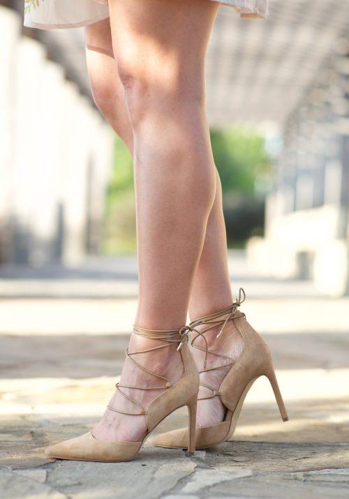 lace up pointed toe heel - Lauren Schwaiger blog
