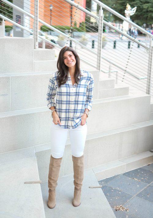 Madewell Plaid Button Down - Lauren Schwaiger Style Blog