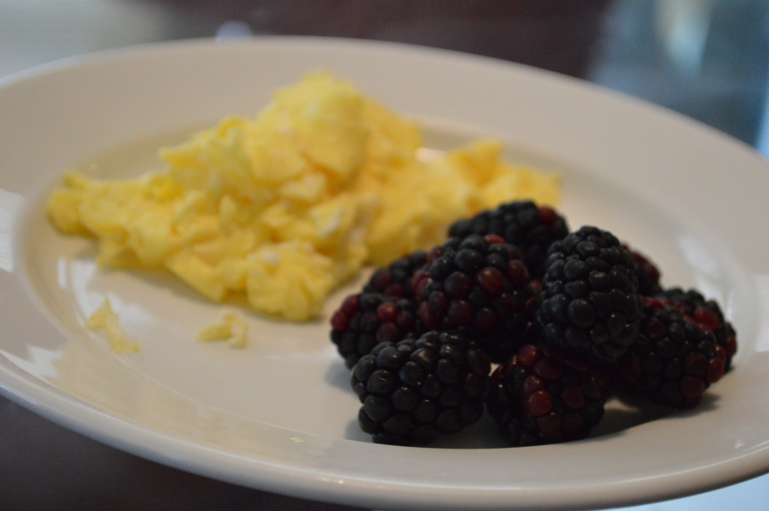 Scrambled Eggs + Blackberries