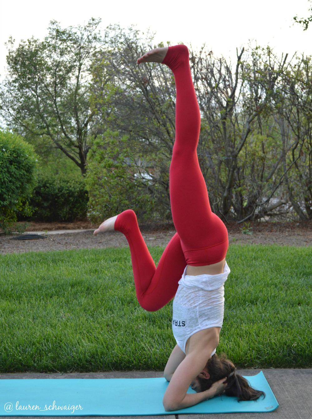 Supported HeadStand - Knee into chest - LS Yoga