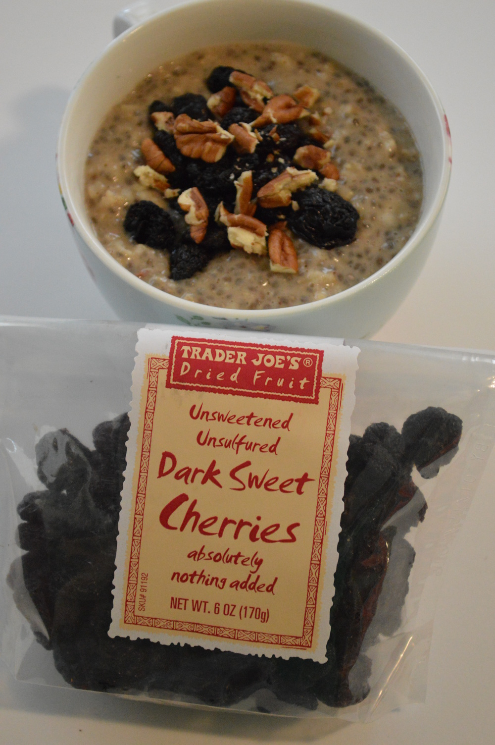 Dried Cherries + Chia Seed Oatmeal