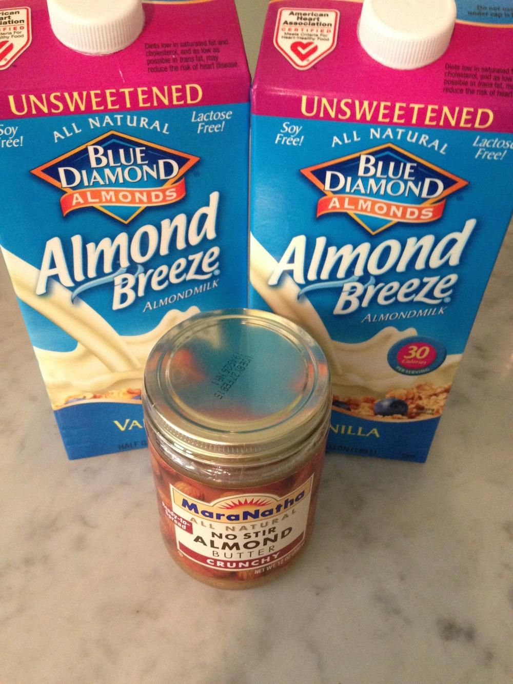almond milk & almond butter