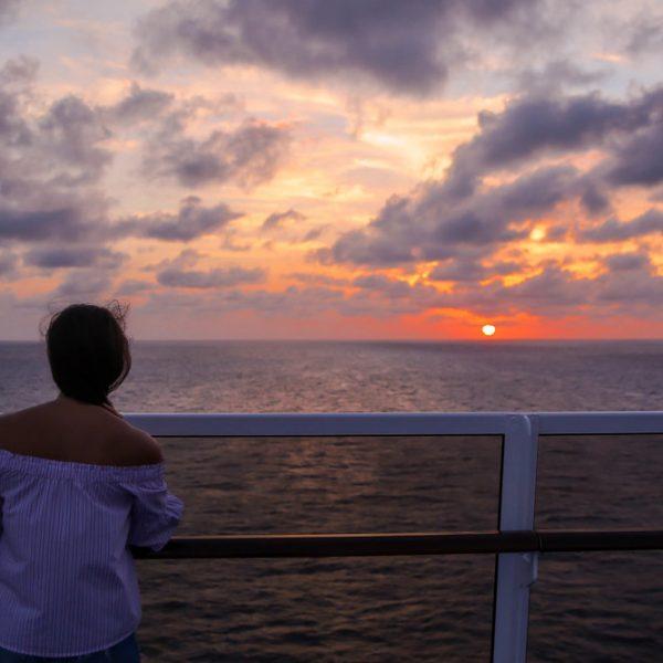 Sunset  & Off The Shoulder Stripes