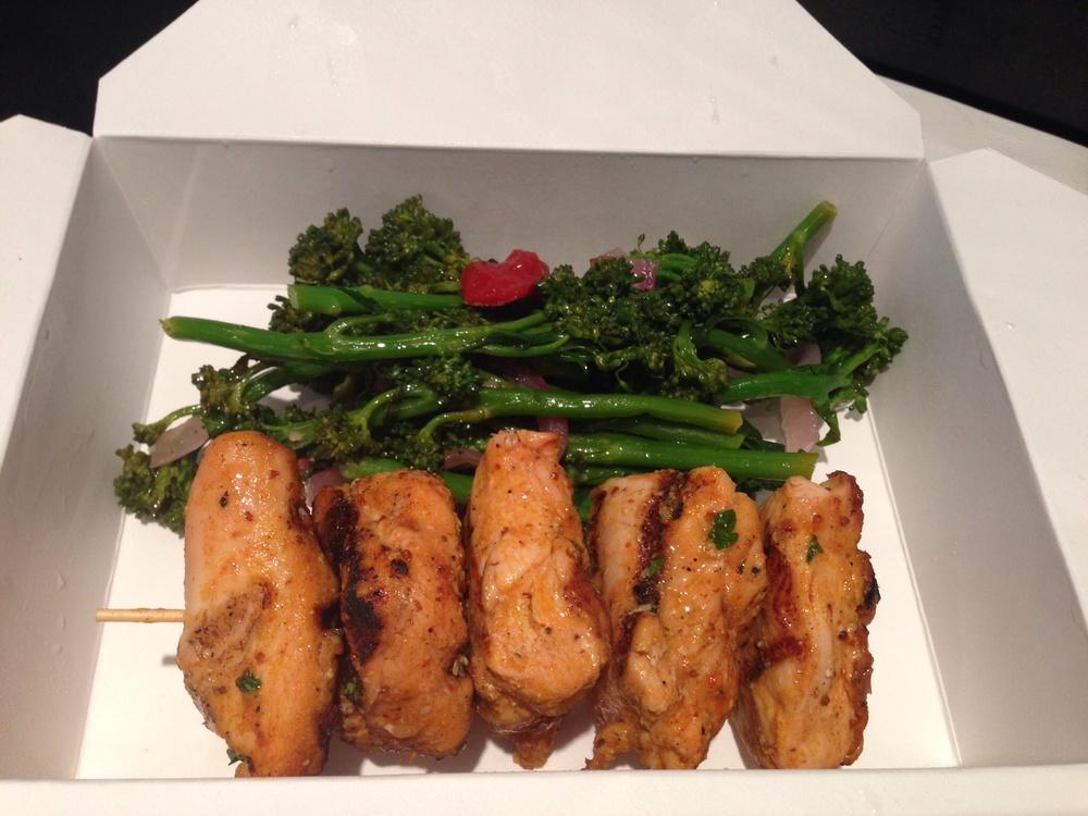 Chicken Kabob + Broccolini
