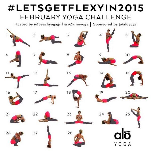 February Yoga Challenge – #LetsGetFlexyIn2015