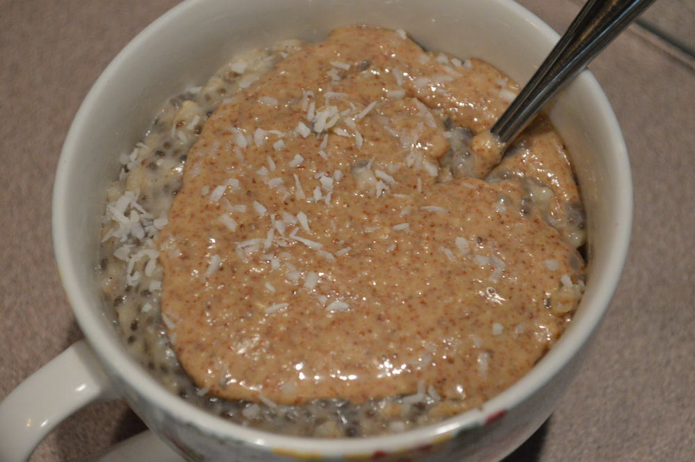 Chia Oatmeal + Almond Butter