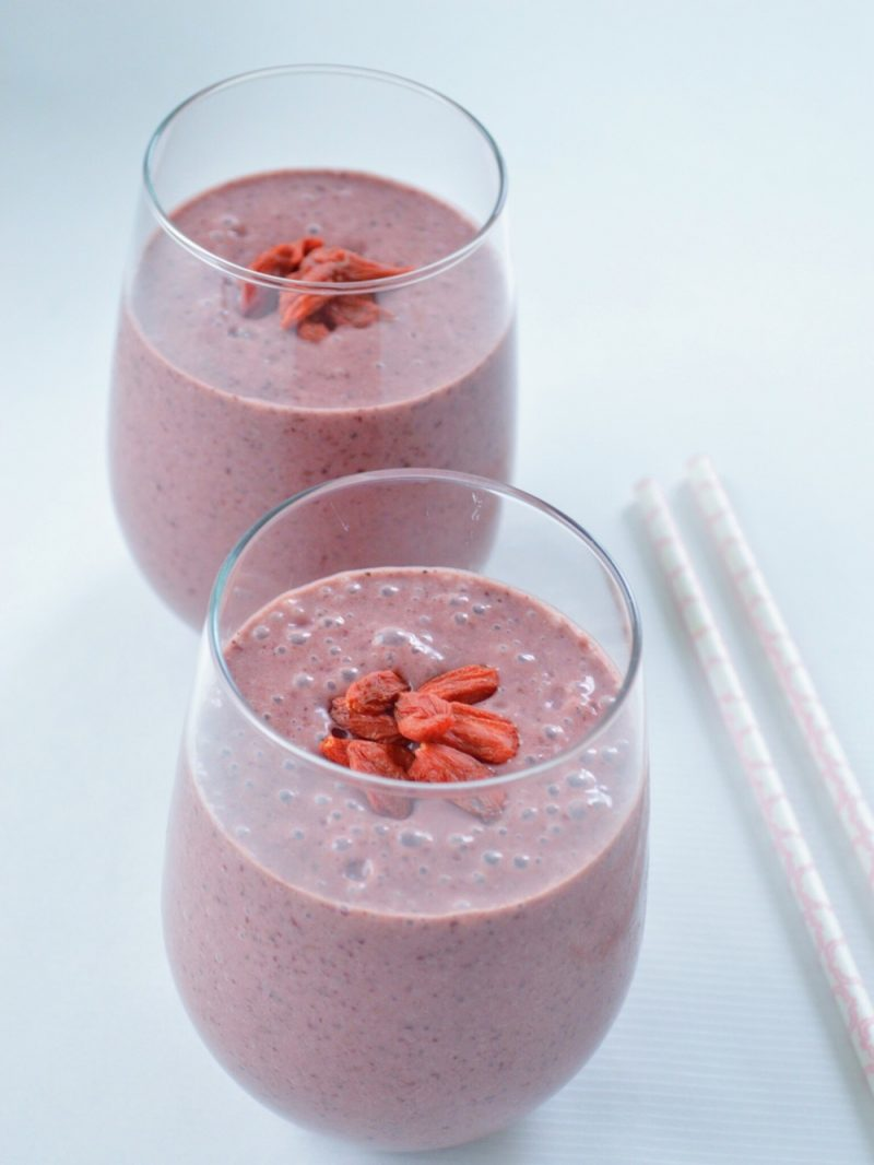Coconut-Cacao Cherry Banana Bliss Smoothie