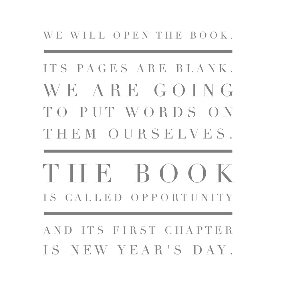 New Years Day: New Year, New Chapter. - Lauren Schwaiger