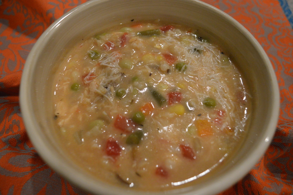 Chicken, Vegetable & Brown RIce Soup