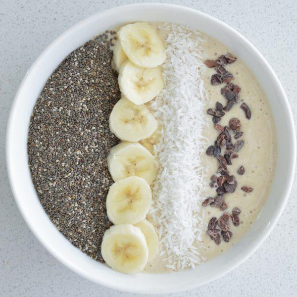 Creamy Vanilla Banana Smoothie Bowl