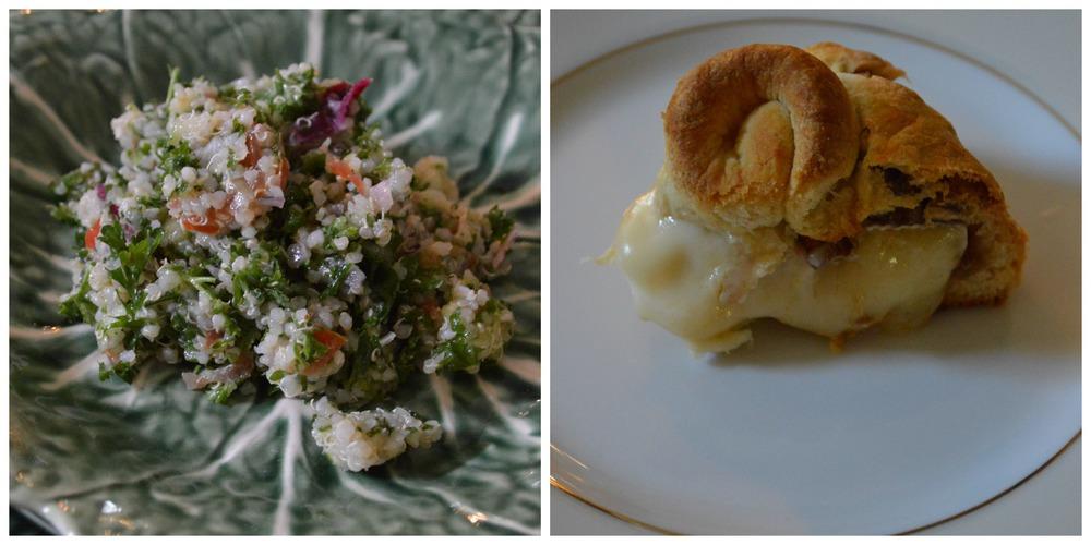 Easter Dinner - Brie & Quinoa Tabouleh