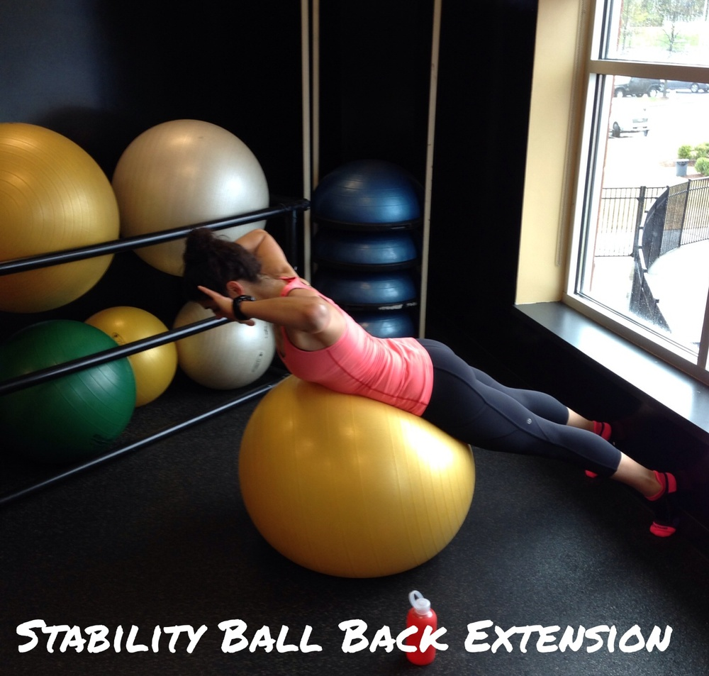 Stability Ball Back Extension - Lauren Schwaiger