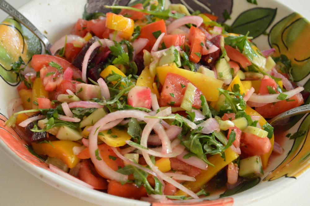 Summer Salad - Tomatoes & Beets