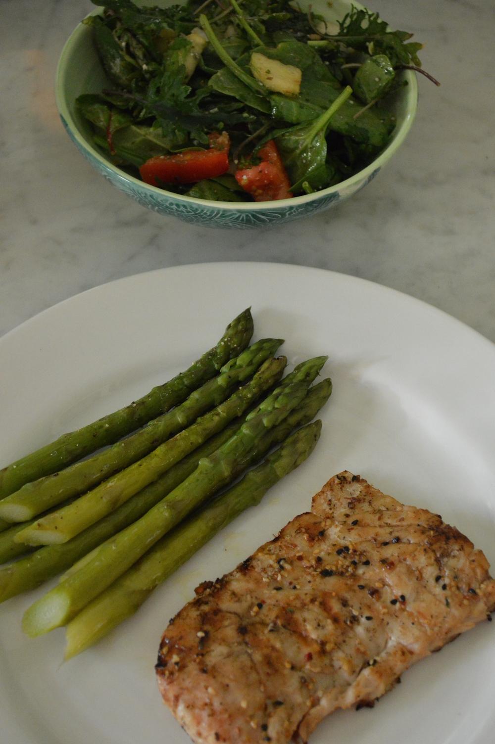 King Clip Fish + Mixed Greens Salad
