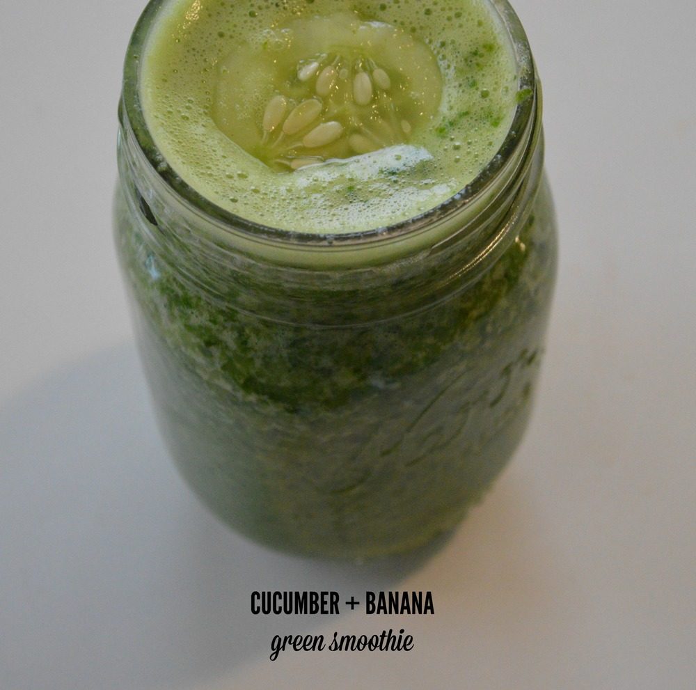 Cucumber + Banana Green Smoothie