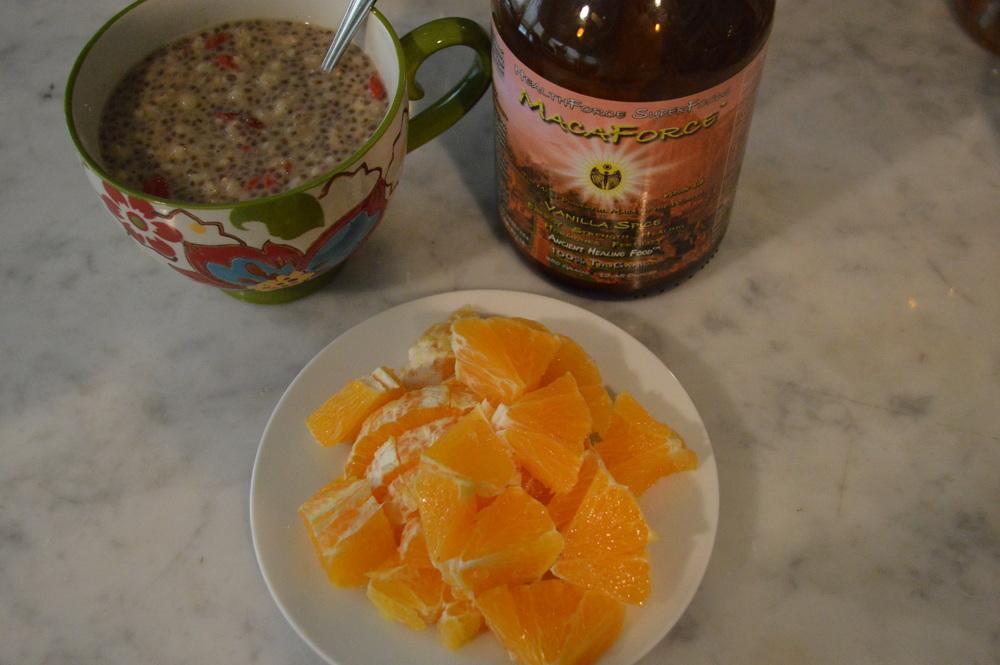 Chia Seed + Maca Powder Oatmeal
