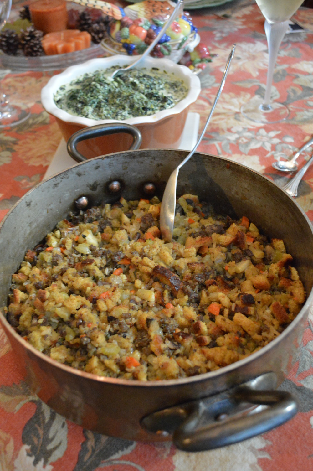 Stuffing & Creamed Spinach
