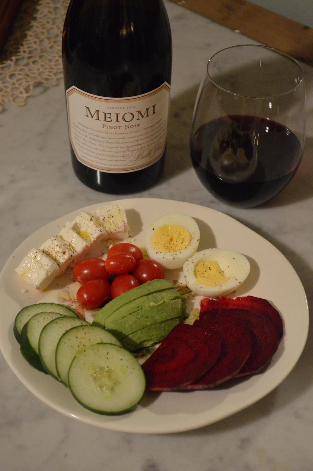 Wine + Raw Veggies