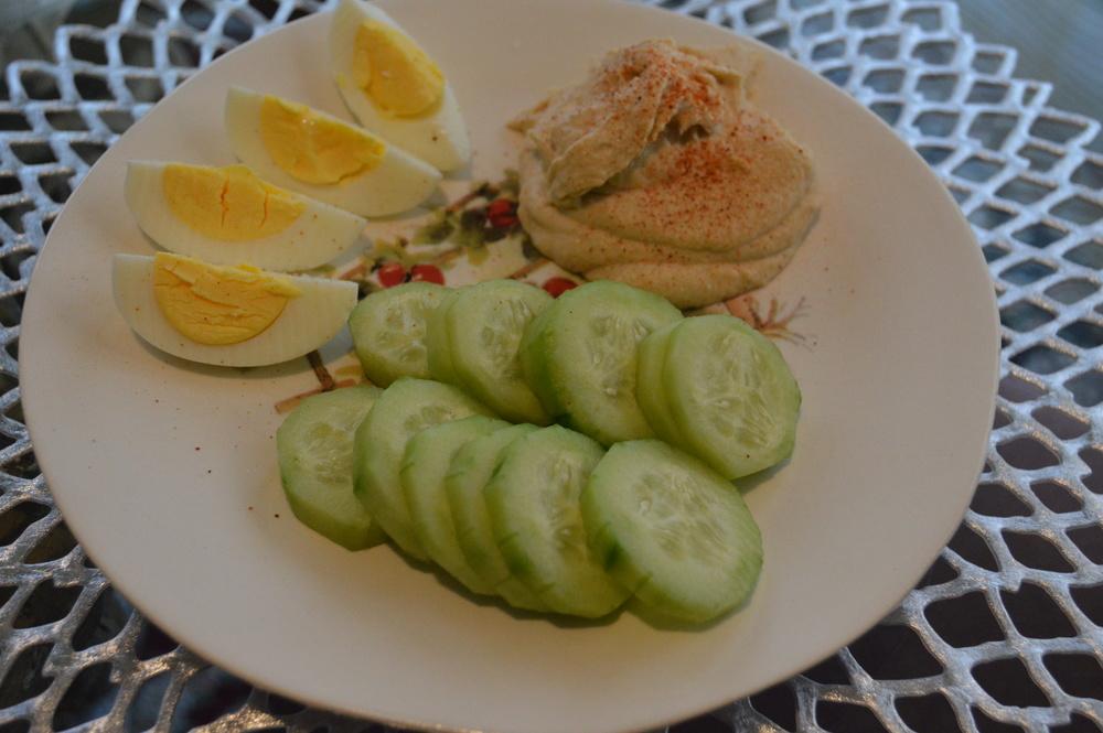 Cucumber + Hummus Snack
