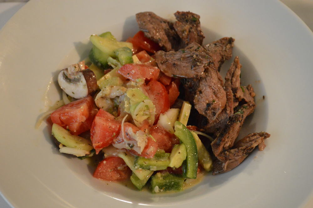 Grilled Lamb + Salad