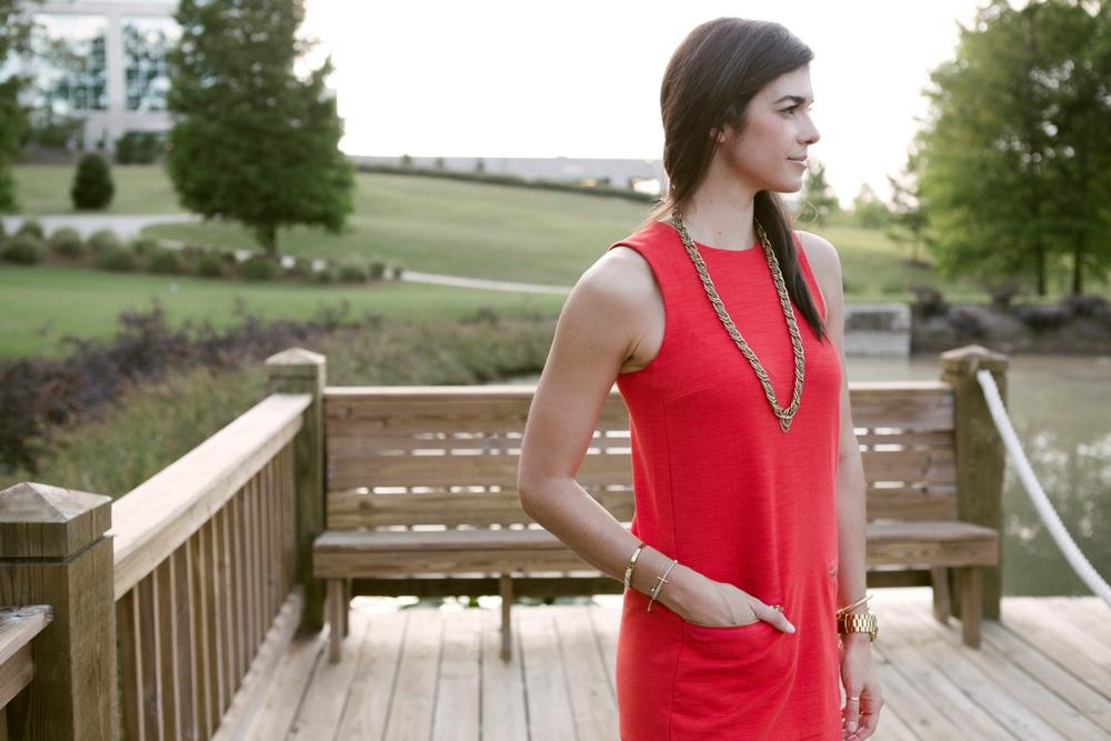Madewell - Red Shiftdress - Lauren Schwaiger