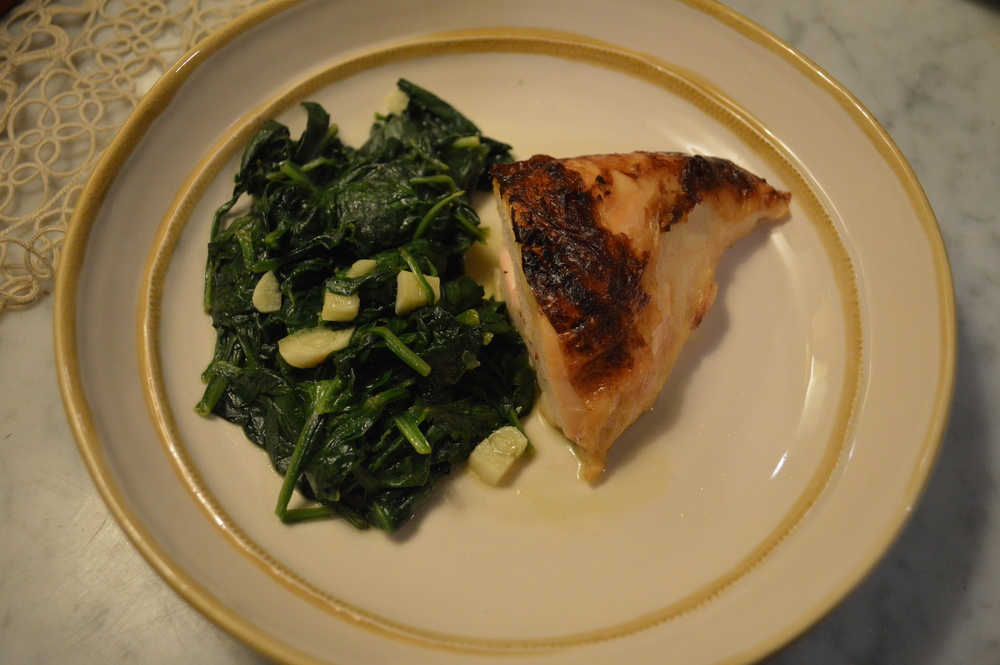 Chicken + Sauteed Spinach