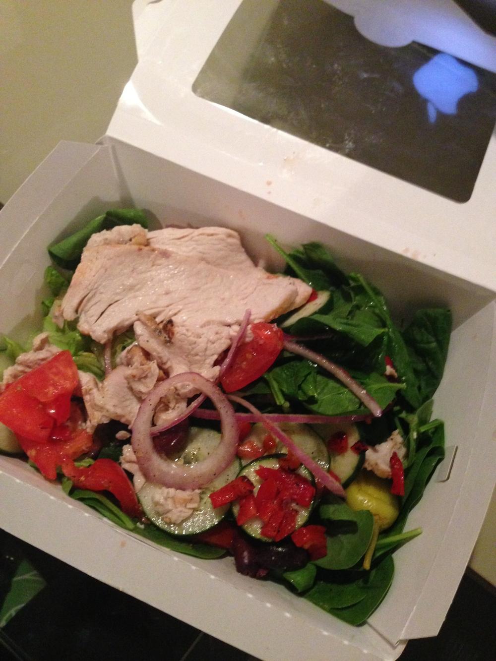 panera bread - med salad