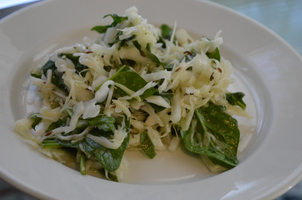Cabbage & Spinach Salad