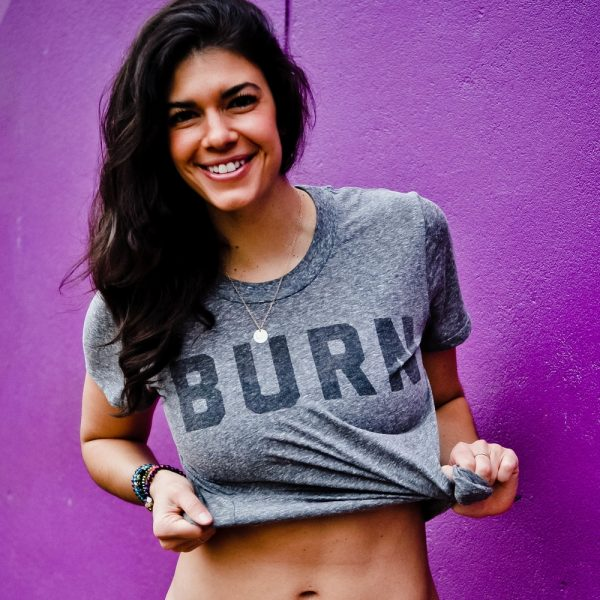 Learn to Love & Push Thru The BURN x Bridge & Burn BURN Tee