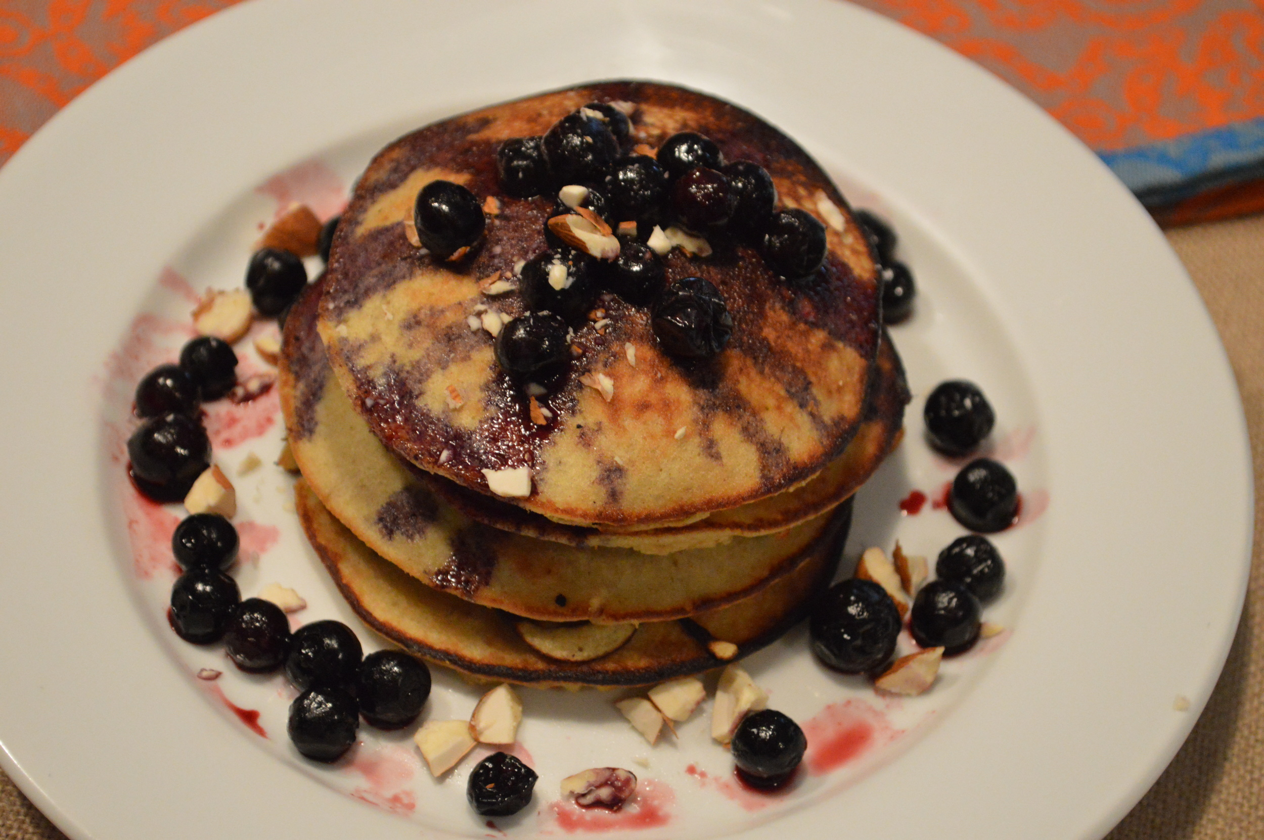 Paleo Pancakes - Blueberry Topping
