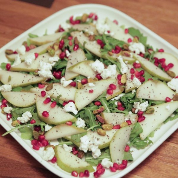 Pear & Pomegranate Christmas Salad