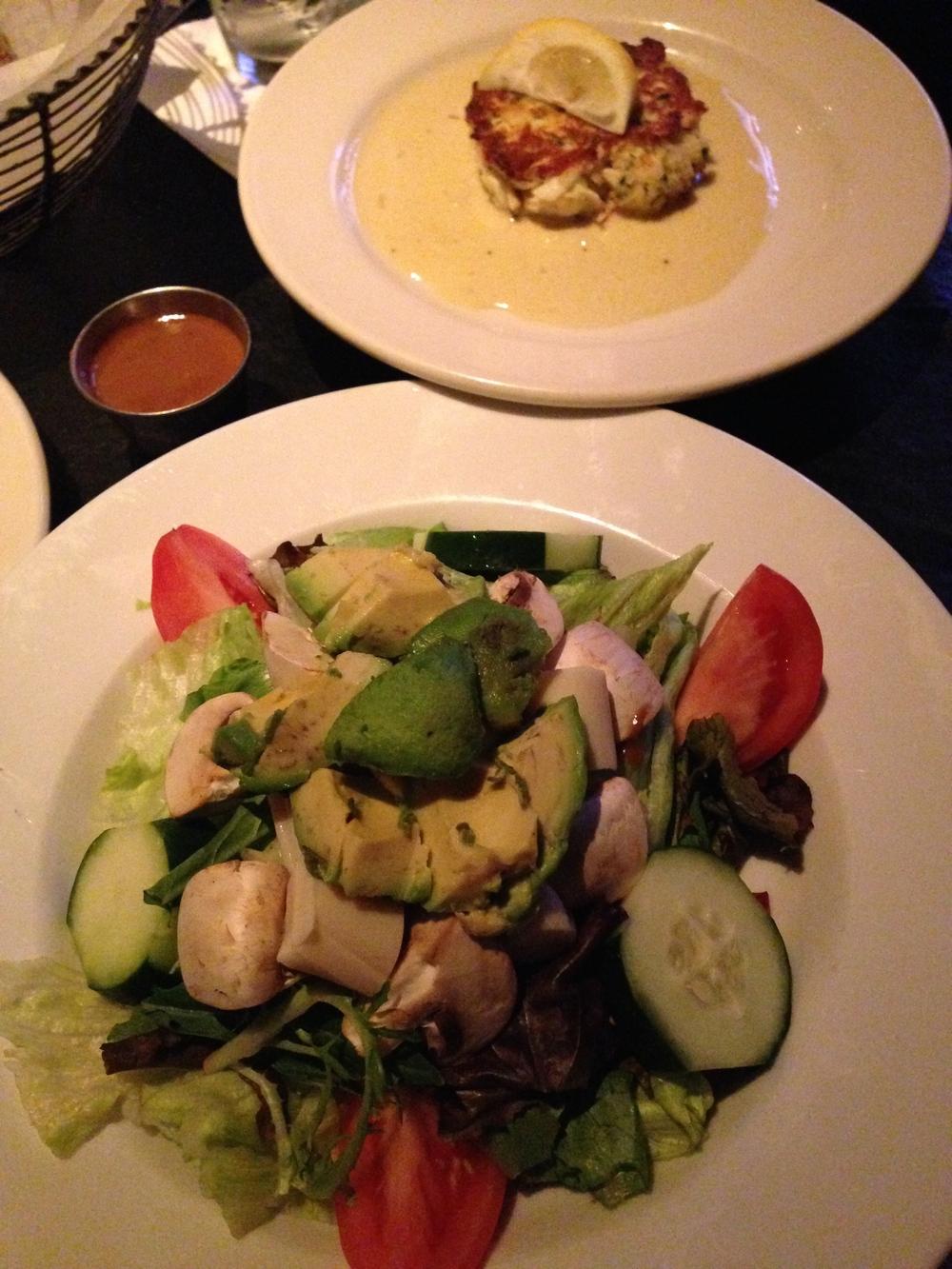 salad + crab cake