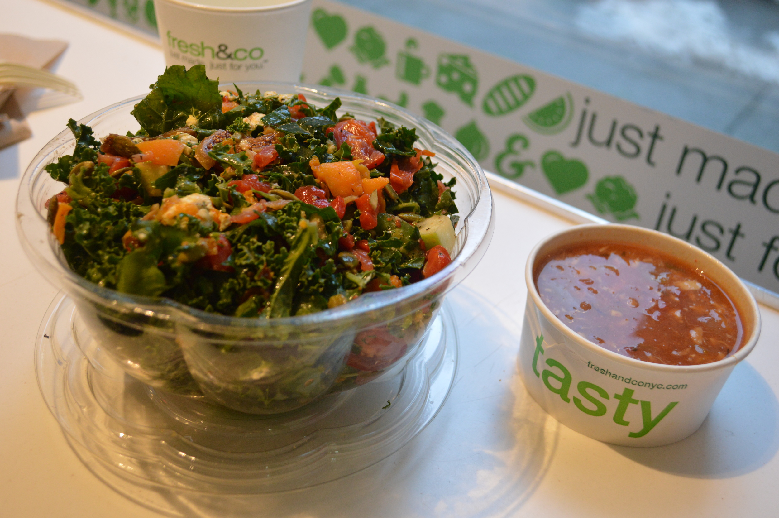 Fresh & Co. Kale Salad + Soup