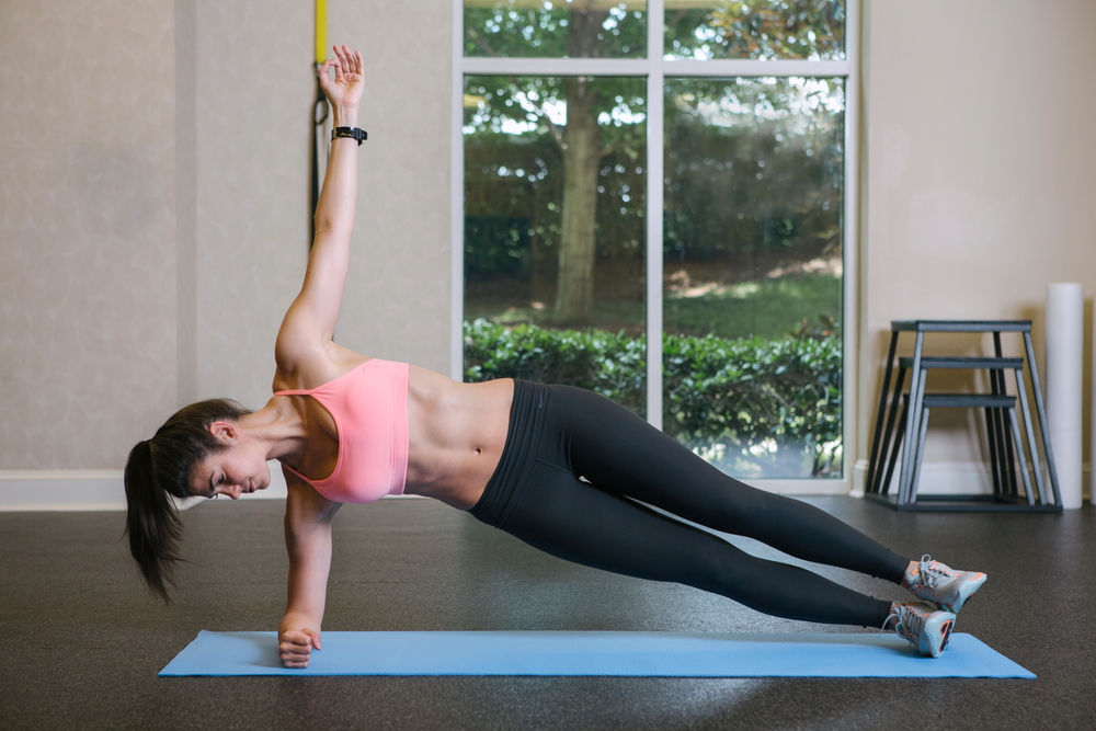 Lauren Schwaiger - Side Plank - Fitness