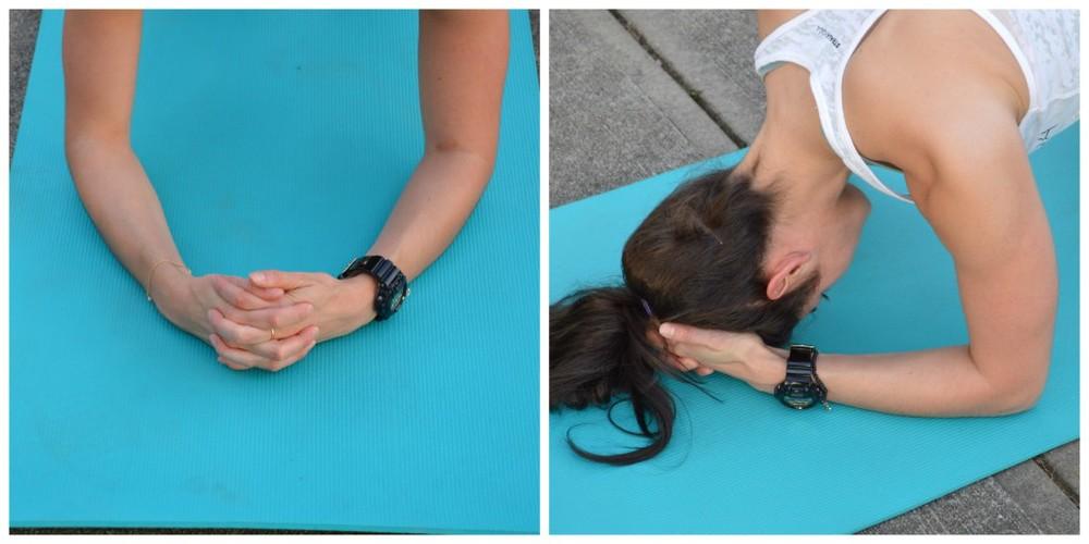 supported headstand prep - lauren schwaiger yoga