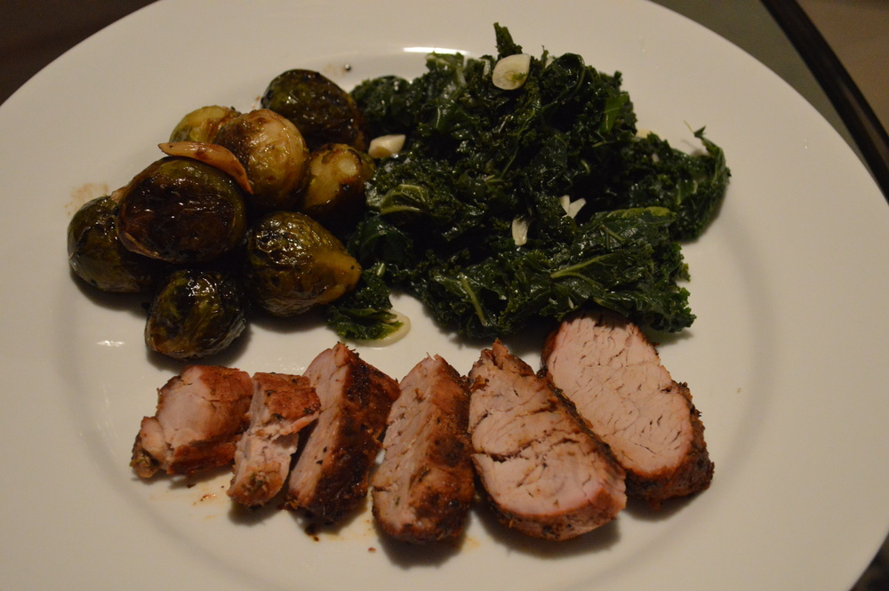 Pork Tenderloin + Greens