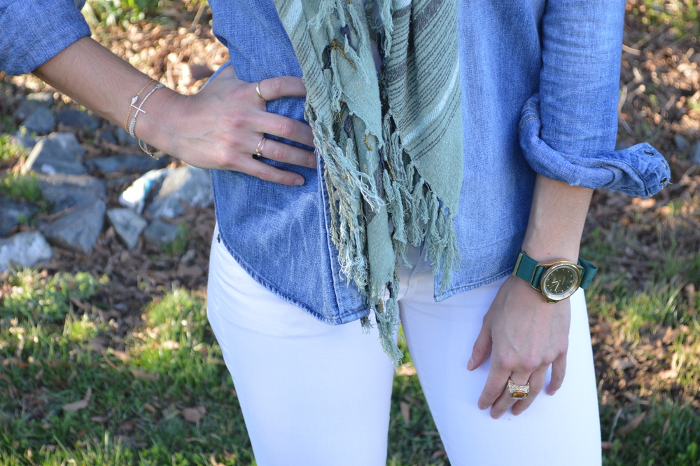 Denim Shirt + Accessories - Lauren Schwaiger