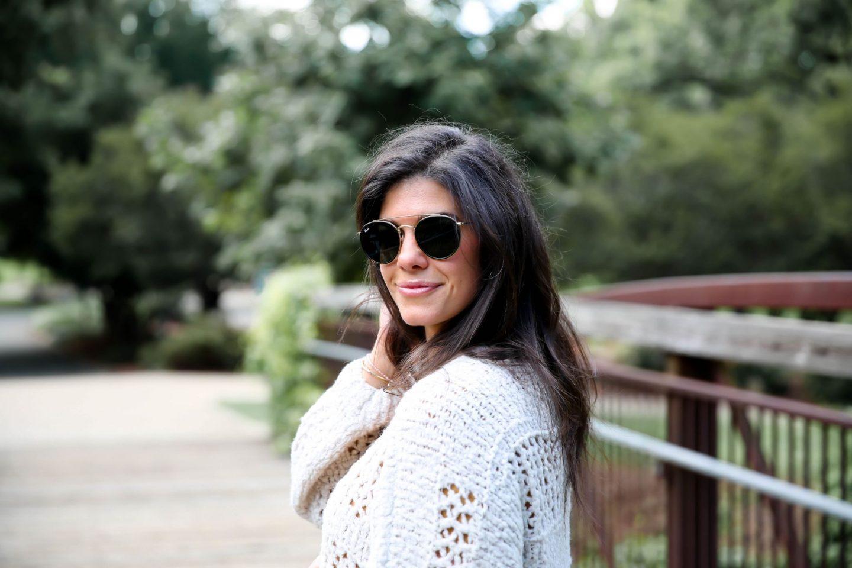 round - ray ban sunglasses - Lauren schwaiger style blog