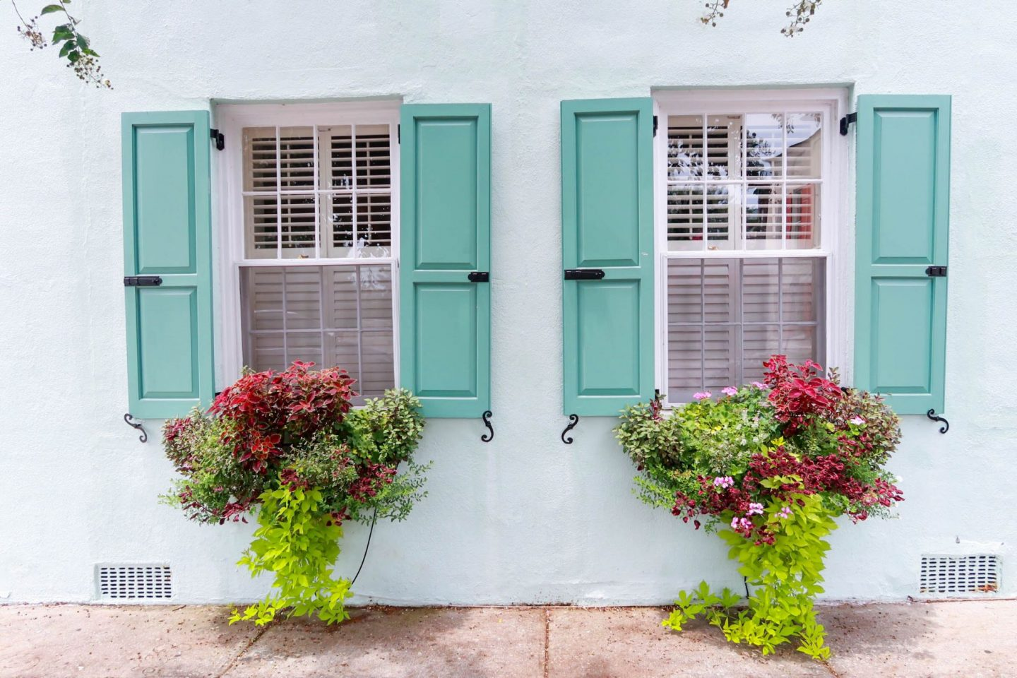 Turquoise Shutters Charleston South Carolina