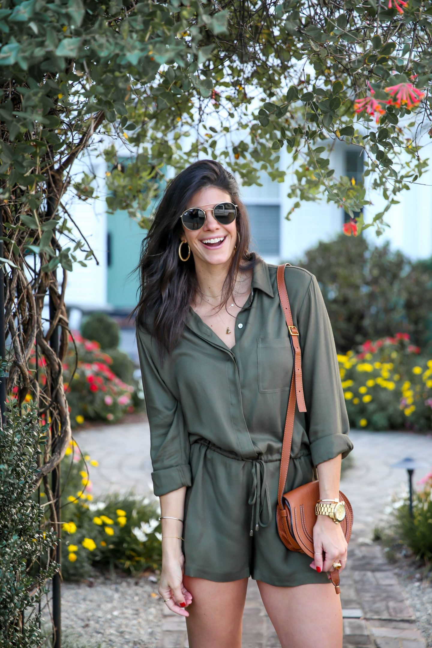 long sleeve romper for early fall - Lauren schwaiger style blog