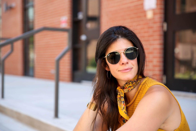 sweater tank - neck scarf - Lauren schwaiger charlotte style blogger