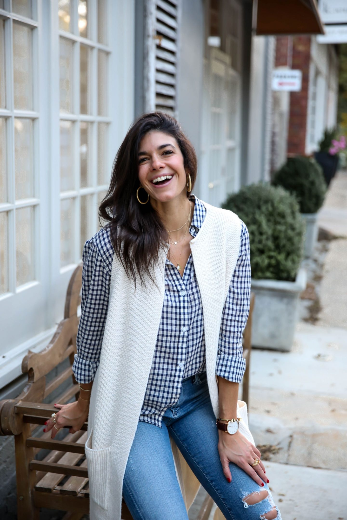 sweater vest - button down - fall -layers - Lauren schwaiger style blog