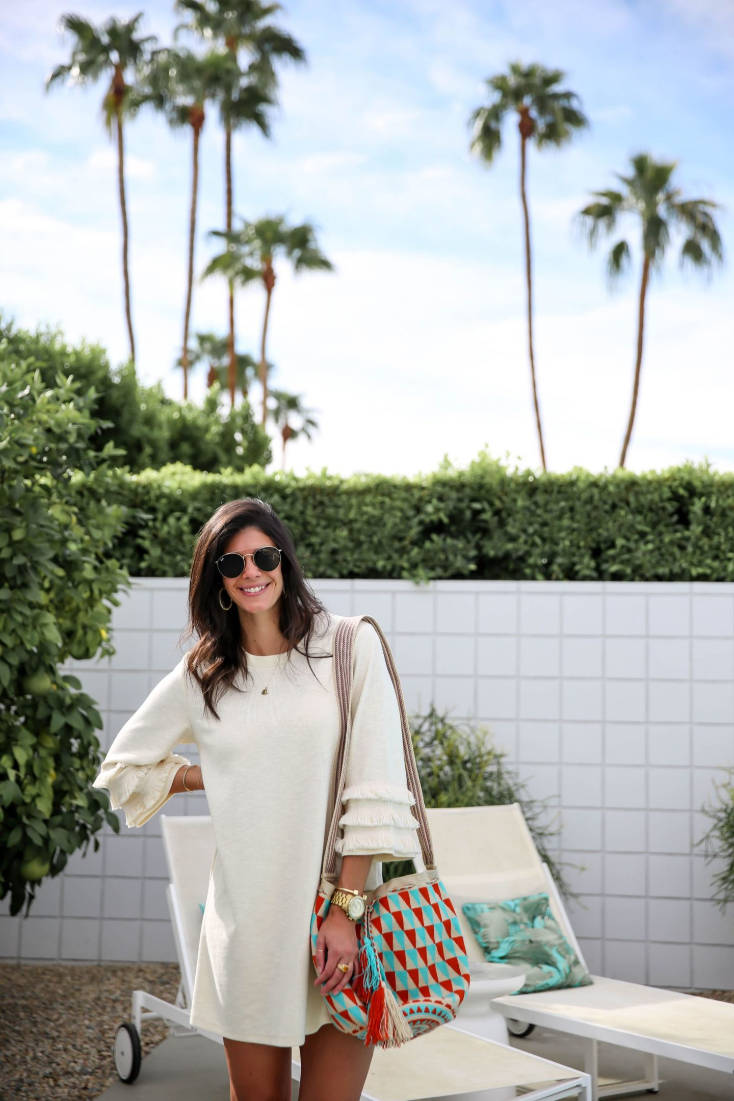boho chic sweater dress - booties -Lauren schwaiger style blogger