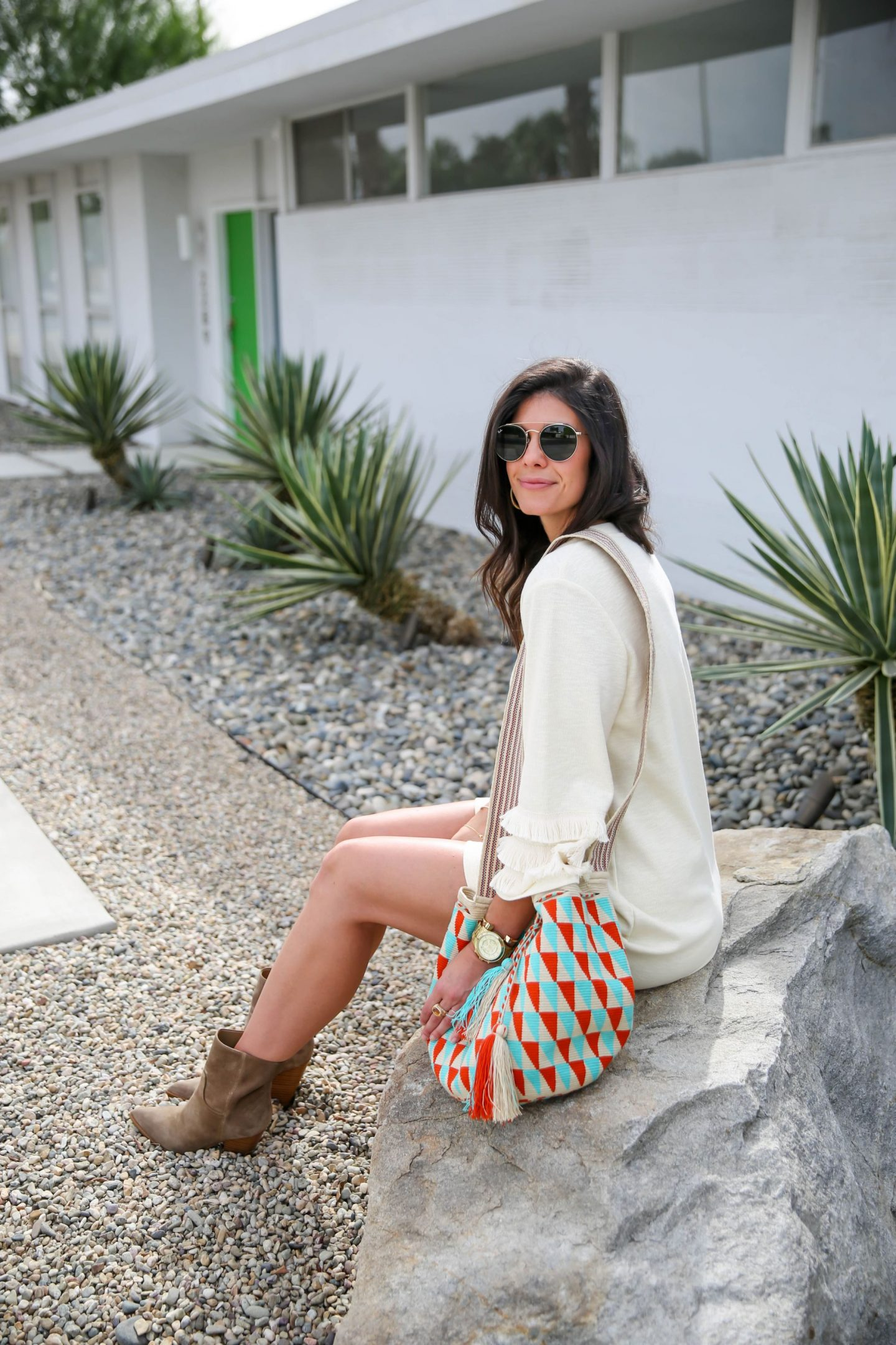 Palm Springs style - Boho Chic Outfit - Lauren Schwaiger Style Blog
