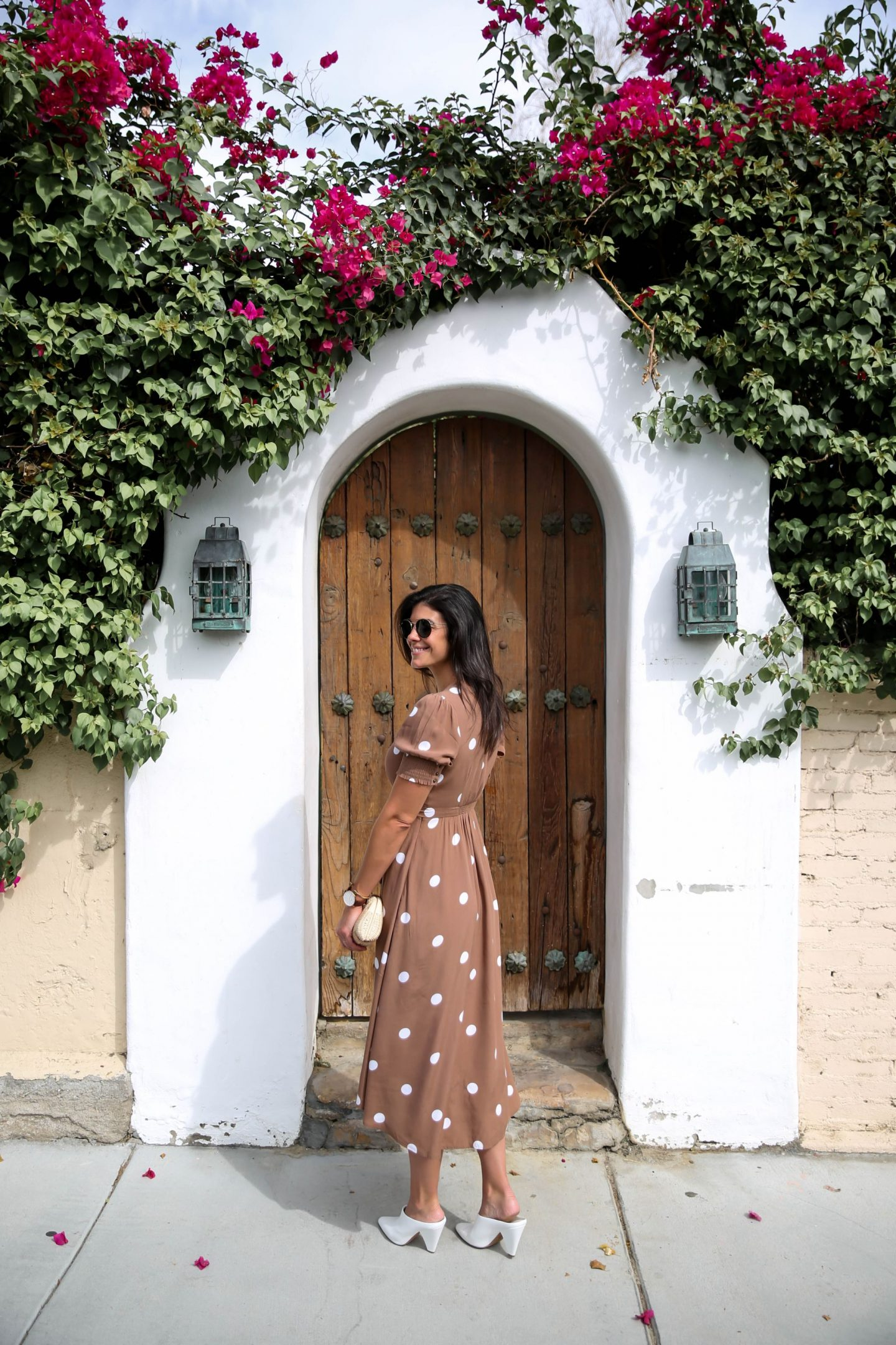 Brow White Polka Dot Dress - Palm Springs - Lauren Schwaiger Style Blog