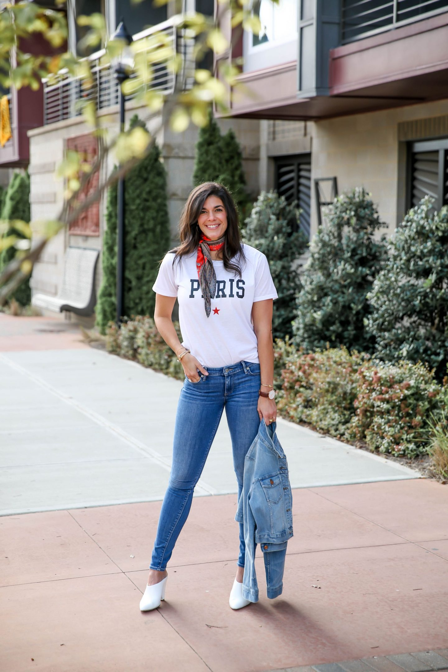 graphic tee - skinny jeans - denim jacket - Lauren Schwaiger style blog